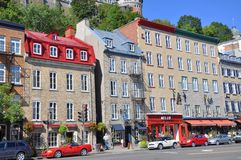 Stone Houses in Basse-Ville, Quebec City Stock Photo