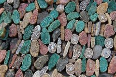 Colorful Stone Mold Pieces Stock Images