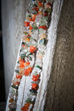 Colorful Stone Necklace Sideview Stock Images
