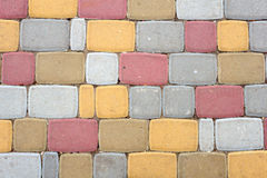 Colorful stone path Stock Photos