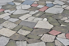Colorful stone walkway Royalty Free Stock Images