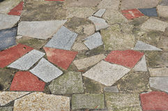 Colorful stone walkway Royalty Free Stock Image