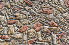 Colorful Stone Wall Background Royalty Free Stock Photography