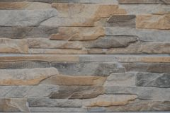 Colorful stone wall - close-up Royalty Free Stock Photo