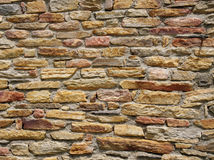 Colorful stone wall closeup Royalty Free Stock Photos