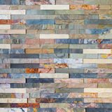Colorful stone wall tiles Royalty Free Stock Images