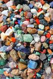Colorful stones background Stock Images