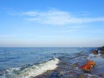 Colorful stones on Baltic sea coast, Lithuania royalty free stock photo