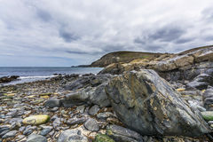 Colorful stones at higer bal cove Stock Photo