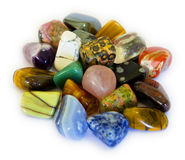Colorful Stones (Isolate). Various stones, minerals, gems, that contain spiritual force human believes Stock Photos
