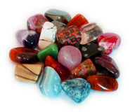 Colorful Stones (Isolate). Various stones, minerals, gems, that contain spiritual force human believes Stock Photography
