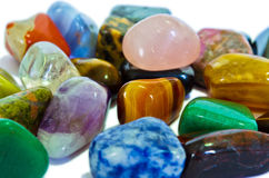 Colorful Stones (Macro). Various stones, minerals, gems, that contain spiritual force human believes Stock Photo