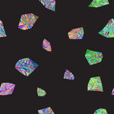 Colorful stones seamless pattern Stock Image
