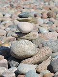 Colorful stones tower. Beautiful different shape stones tower, can use as background stock image
