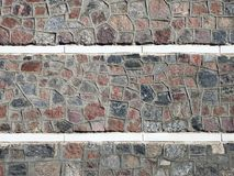Colorful stones wall Royalty Free Stock Photos