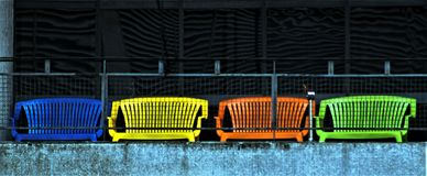 The guaranteed rest behind the bars. royalty free stock image