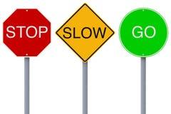 Stop Slow Go Stock Image