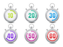 Colorful Stopwatches vector illustration icon Stock Photography