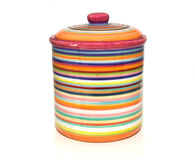 Colorful storage jar Stock Images
