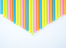 Colorful straight straw arrow. Colorful straight straw put continual as the beautiful background color Stock Photos