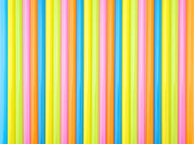 Colorful straight straw. Put continual as the beautiful background color Royalty Free Stock Images