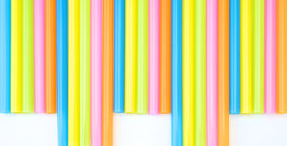 Colorful straight straw set. Colorful straight straw put continual as the beautiful background color Royalty Free Stock Photos
