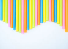 Colorful straight straw wave. Colorful straight straw put continual as the beautiful background color look like wave Stock Image