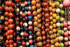 Colorful Strands of Tagua Beads Stock Photo