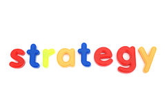 Colorful strategy letters Stock Photos