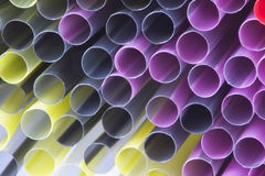 Colorful of straw Stock Images