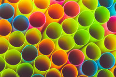 Colorful straw for background Stock Image
