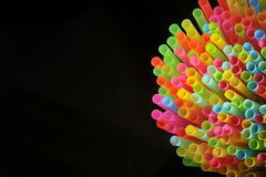 Colorful of straw Royalty Free Stock Image