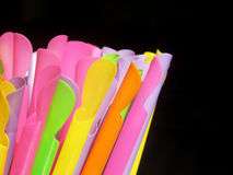 Colorful of straw. On black background Stock Photo