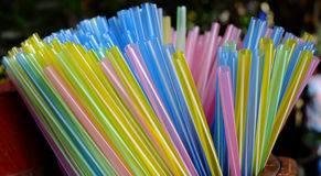 Colorful straw Royalty Free Stock Photos