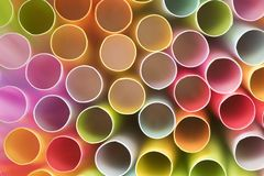 Colorful of straw,Close up of of straw. stock photo