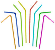 Colorful straw collection isolated Stock Photos