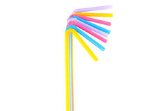 Colorful straw Royalty Free Stock Image