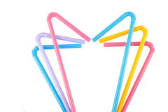 Colorful straw Stock Photography