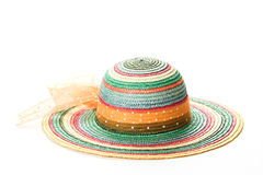 Colorful straw hat # 2 Royalty Free Stock Photo