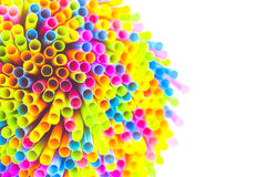 Colorful straw. Isolated on white background Royalty Free Stock Photography