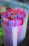 Colorful of straw Stock Photography