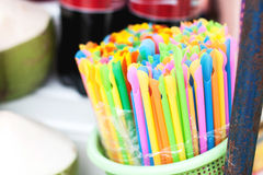 Colorful of straw Royalty Free Stock Photo