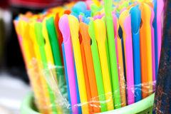 Colorful of straw Royalty Free Stock Images