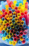 Colorful straw  in tray Stock Image