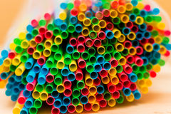 Colorful straw tubes closeup. Abstract texture and background. Colorful straw tubes closeup. Abstract texture and background royalty free stock photo