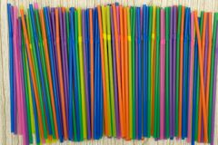 Colorful of straw twist vibrant vivid water . Colorful of straw twist vibrant vivid water Royalty Free Stock Photo