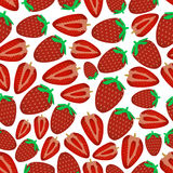 Colorful strawberries fruits and half fruits seamless pattern eps10 Stock Photos