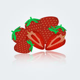 Colorful strawberry eps10 Stock Image