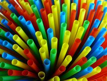 Colorful Straws. A background with a view of colorful straws Stock Photo