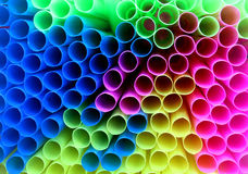 Colorful straws Stock Image